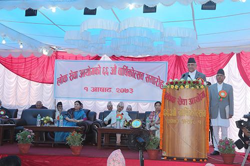 ६६ औं वार्षिकोत्सवको अवसरमा सुभकामना मन्तव्य दिनु हुँदै सम्माननीय प्रधानमन्त्री श्री के.पी.शर्मा ओली